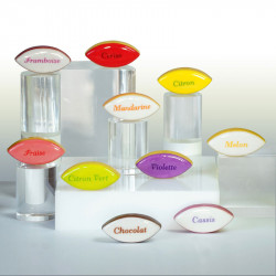 Calissons - Série de 10 fèves personnalisables en porcelaine - Prime