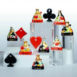Rouge & Noir - Série de 12 fèves - Porcelaine peinte à la main - Prime