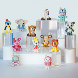 Mon Ami Gurumi - Série de 12 fèves en porcelaine - Prime