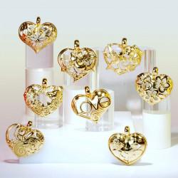 Un Cœur En Or - Série de 8 fèves en porcelaine - Prime