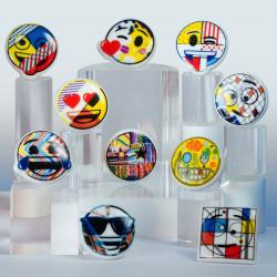Émoji Art Contemporain - Série de 10 fèves en porcelaine - Prime