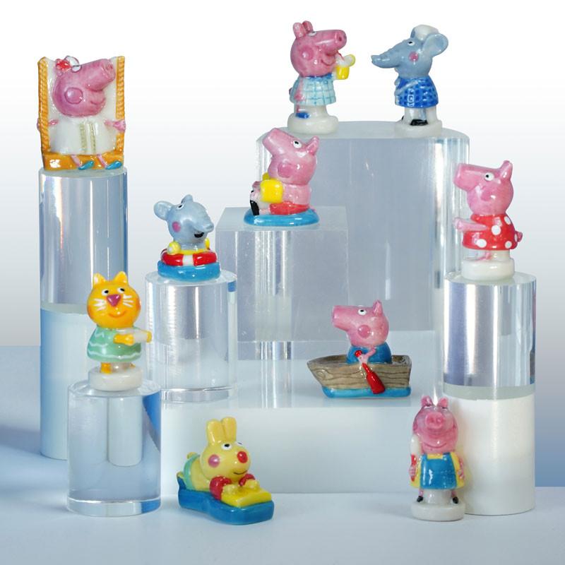 Peppa Pig En Vacances Série De 10 Fèves En Porcelaine Prime