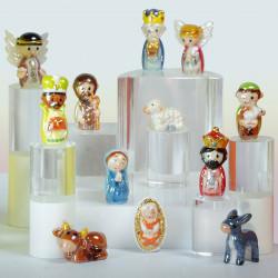 Nativité Dorée - Série de 12 fèves en porcelaine - Prime