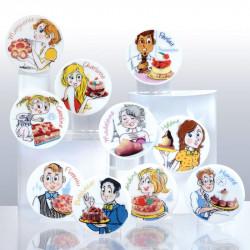 Prénoms Gourmands - Série de 10 fèves personnalisable en porcelaine