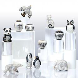 Raku - Série de 12 fèves personnalisable en porcelaine