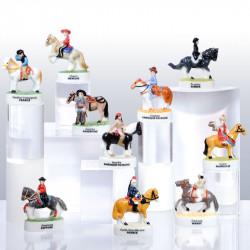 Cavaliers du Monde - Série de 10 fèves en porcelaine - Prime