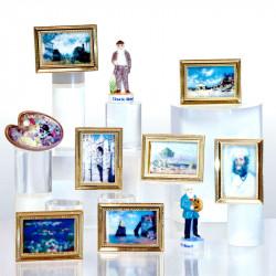 Claude Monet, tour de France Impressionniste - Série de 10 fèves en porcelaine - Prime