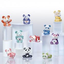 Panda, symbole de la protection animale - Série de 10 fèves en porcelaine - Prime