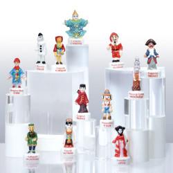 Marionnettes du Monde - Série 12 fèves en porcelaine - Prime