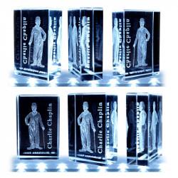 Charlot Burlesque 3D - Série 8 fèves en verre - Prime