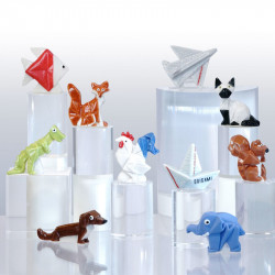 Original Origami - Série 10 fèves en porcelaine - Prime