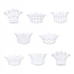 Couronnes Blanches - Série 8 fèves en porcelaine - Prime