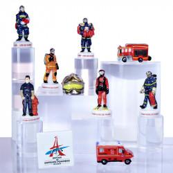 Sapeurs Pompiers de Paris - Série 10 fèves en porcelaine - Prime