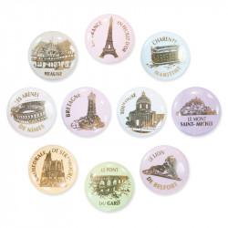 La France en feuilles d'or - Série de 10 fèves en porcelaine - Prime
