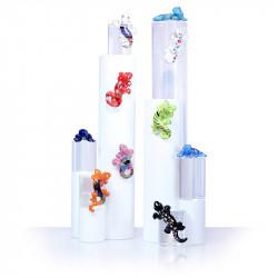 Gecko'llectionne - Série de 10 fèves Geckos en porcelaine - Prime