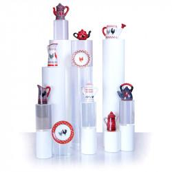 Émail cocotte - Magnifique série de 10 fèves en porcelaine - Prime